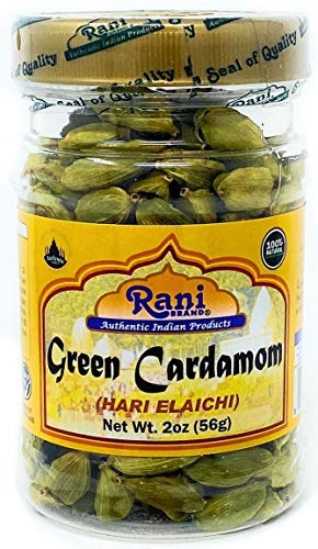 Rani Green Cardamom Pods Spice (Hari Elachi) 2oz (56gms) ~ Natural | Vegan | Gluten Free Ingredients | NON-GMO
