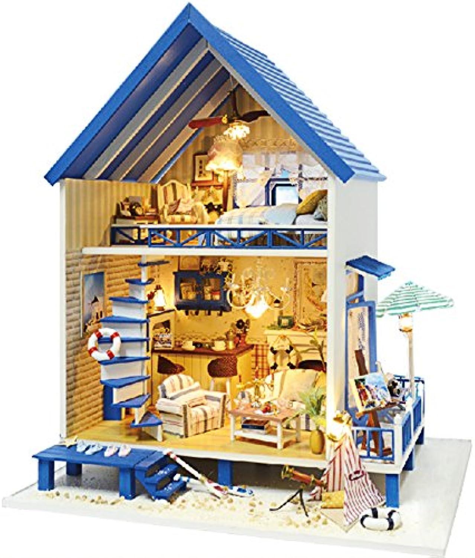 Rylai Wooden Handmade Dollhouse Miniature DIY Kit  Romantic Aegean Sea Series Miniature Scene Wooden Dollhouses & Furniture Parts(1 24 Scale Dollhouse)
