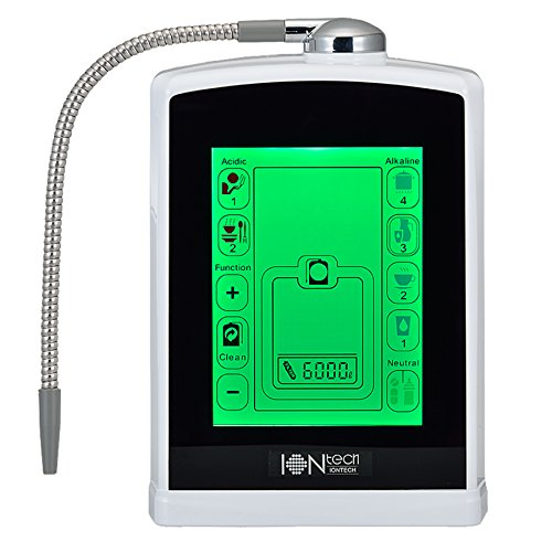 IONtech IT-588 Luxury Alkaline Water Ionizer Machine 7 pH Water Levels Japan Made Platinum Titanium Electrolysis Plates USA Made NSF Certified Activated Carbon Filter PH Test Included
