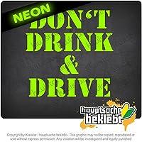 飲酒運転しないでください Dont drink and drive 10cm x 10cm 15色 - ネオン+クロム! ステッカービニールオートバイ