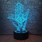 Anime Kakashi Mangekyo Sharingan EYE Forma de palma 3D Luz de noche LED USB Mesa Lámpara de sueño Decoración Cool Teen Fans Gift
