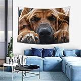 Tapiz para ropa de cama de perro de Bloodhound, impresión 3D, para colgar en la pared, tapiz de pared para dormitorio, sala de estar, dormitorio (101 x 152 cm)