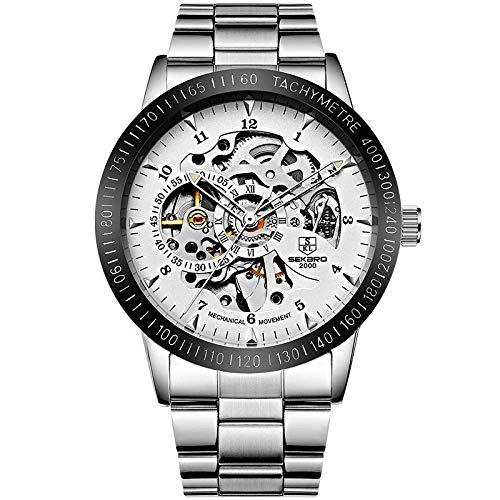 Reloj mecánico automático con Cuerda mecánica para Hombre, Reloj de Pulsera de Negocios Resistente al Agua para Hombre-D
