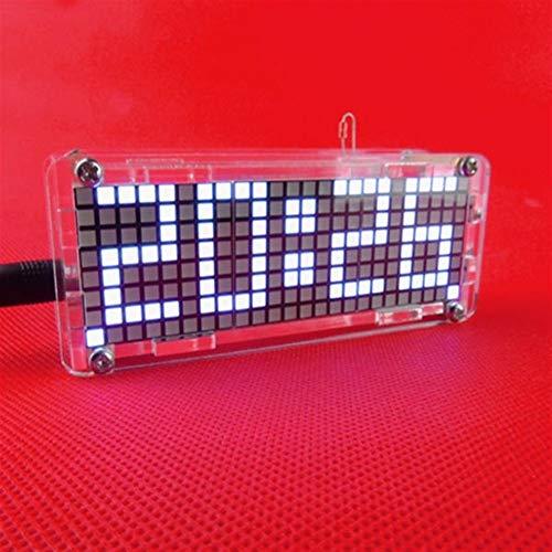 Anfänger DIY Module Kit-Komponenten Praxis Platte LED elektronische Uhr Kit Temperatur 24 Stunden Anzeige 5V DIY Dot Matrix Digit - Blau Brett-Modul für elektronischen Anzug Board (Farbe : Weiß)