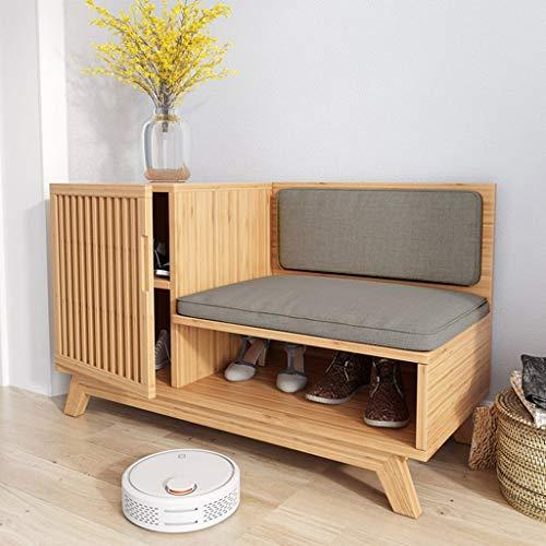 GENFALIN Zapatero Pasillo Muebles de Zapatos Zapatero Bastidores de Madera Maciza Simples estantes Almacenamiento de los Muebles del gabinete Creativo Simplicidad de bambú Organizador