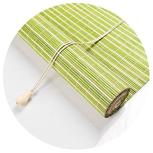Bambusrollo Raffrollo, Römische Hölzerne Innenrollos, Sonnenschutz Belüftung Staubdicht, Verschiedene Größen PENGFEI (Color : A, Size : 90cmX220cm)