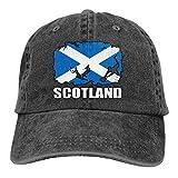 Yiwu Drapeau de l'Écosse Football Rugby Casquettes de Baseball Ajustables pour Hommes/Femmes Chapeaux de Papa en Tissu Denim