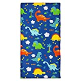 Suyfhdc Full Nap Mat Cover - 100% Cotton Kids Dinosaur Nap Mat Sheet for Boys & Girls 50' x 26.5' Sewn-in Flap Design Rest Mat Cover - Soft Breathable Sleep Mat Washable (Cover ONLY)