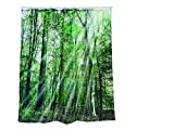 OOTB 31/4059  Duschvorhang, Plastik, grün, 180 x 1 x 180 cm