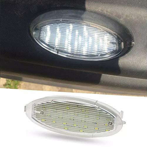 WXQYR 2 unids/Set lámpara de Placa de matrícula LED Blanca de Alto Brillo Trasero de Coche para Opel Zafira Astra G Caravan/CC/Coupe/Kasten/Stufenheck