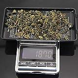 Cerlingwee Balanza electrónica de pesaje, Pantalla LCD Liviana, básculas Digitales, pesaje de Tara, Apagado automático, Mini portátil para Alimentos de Cocina(200g/0.01g)
