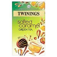 トワイニングはパックあたりキャラメル緑茶20を塩漬け - Twinings Salted Caramel Green Tea 20 per pack [並行輸入品]