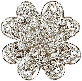 Anello Fiore di Diamanti, oro Bianco