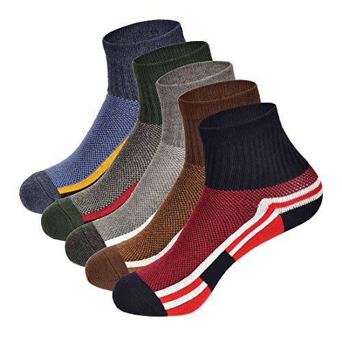 Chunglerain Herren Sportsocken No-Show Socken Performance Baumwolle Komfort Atmungsaktive Socken Verschiedene Kombinationen zur Auswahl - Schwarz - Einheitsgröße