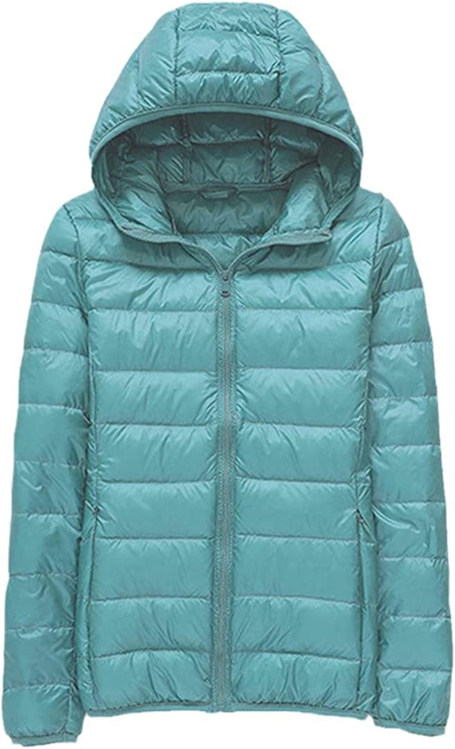 Ultra-Light Thin Max 70% Year-end gift OFF Down Jacket Women Warm Hooded White Short Duck