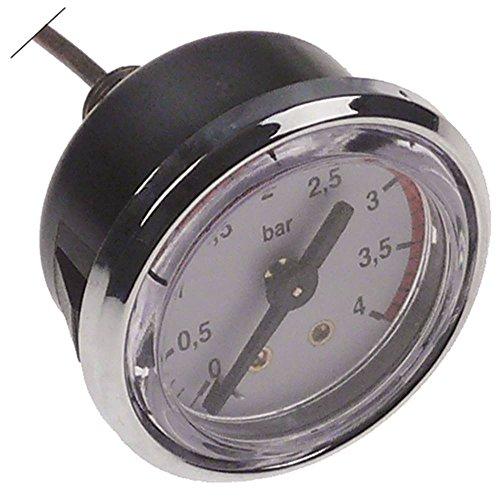 Vibiemme Manometer für x-Replica, Domobar-Super-Manuale mit Kapillarrohr, rückseitiger Anschluss 0-4bar Anschluss rückseitig