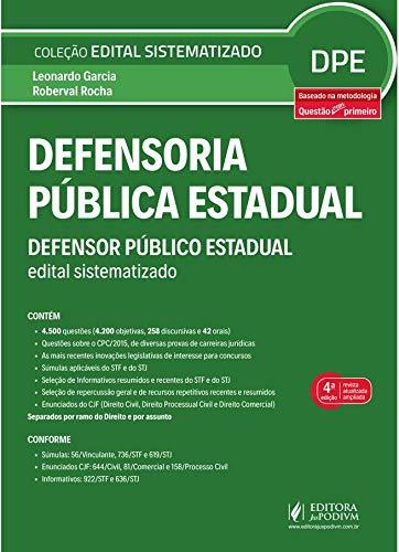Defensoria Pública Estadual: Defensor Público Estadual - Edital Sistematizado