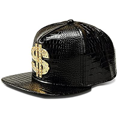 Hip Hop Hat,Flat-Brimmed Hat,Rock Cap,Adjustable Snapback Hat for Men and Women