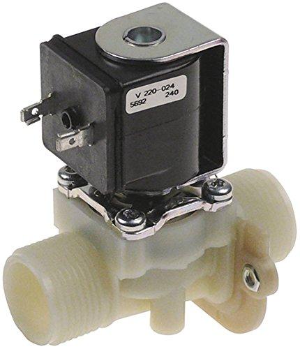 MÜLLER Magnetventil für Spülmaschine Hobart CNB Kunststoff 220-240V 1-fach Eingang 3/4' Ausgang 3/4' DN 10 1-fach gerade grün
