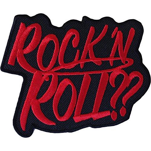 Parche para planchar y coser en camiseta de Rock N Roll