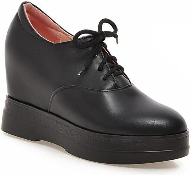 OL Oxford Lace-Up Platform Wedge High Heel Heel Heel Pumps Stiefeletten Round-Toe Frauen Casual Work Schuhe Europa Größe 34-39  2f6db6