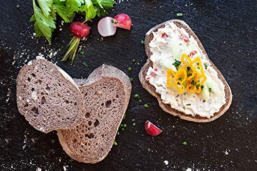 4x KETOFAKTUR® Brot No45 | 91% weniger Kohlenhydrate | KETOGEN | GLUTENFREI | VEGAN | sojafrei, enzymfrei, hefefrei, weizenfrei, ohne Palmfett | low carb high fat | Paleo, Diabetiker geeignet