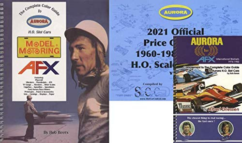 3 BOOK SET: Complete Color Guide to Aurora HO Slot Cars (Spiral bound) and 2021 Price Guide by Bob Beers AND Aurora AFX International Markets 1974-1983 by Albert Driessen