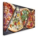 Paul Sinus Art GmbH Pizza Stücke 120x 50cm Panorama