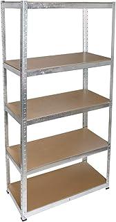 Cogex 62343 Etagère clipsable métal bois 5 plateaux