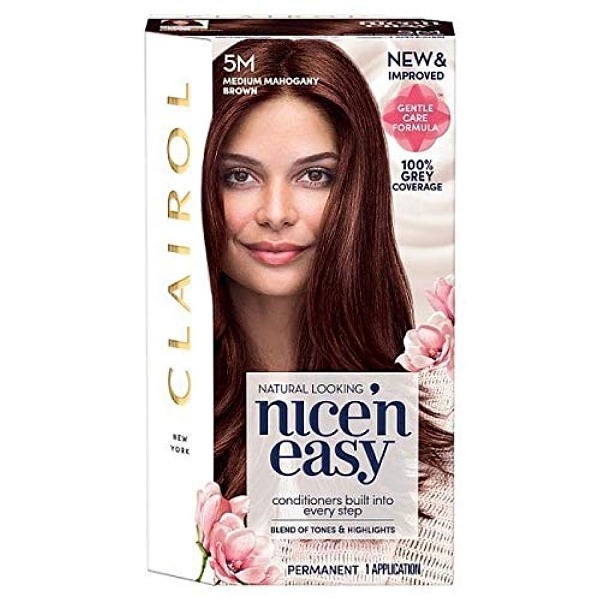 トレーニング腐食するエジプト人[Nice'n Easy] 簡単に5メートルメディアマホガニーブラウンNice'N - Nice'n Easy 5M Medium Mahogany Brown [並行輸入品]