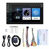 Nrpfell 7 Pulgadas Android 10.1 Radio de Coche Reproductor de Video Multimedia WiFi GPS EstéReo AutomáTico Doble 2 DIN EstéReo de Coche USB Radio FM
