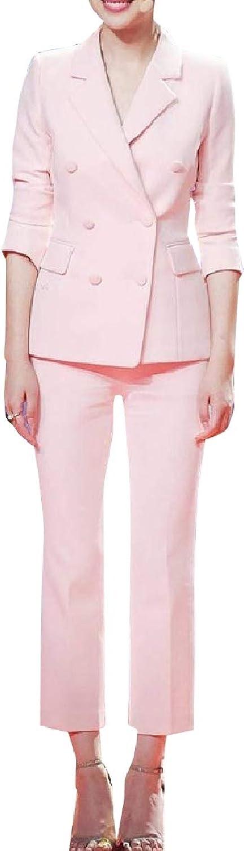 Coolhere Womens SlimFit Blazer Tenths Pants Elegent 2Piece Suits Set