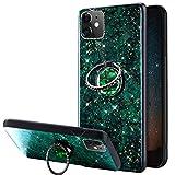 URFEDA Glitter Brillante Cover Compatibile con iPhone 11, Custodia con Anello Ring Support...