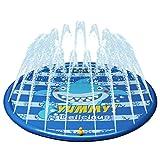 Kyerivs Splash Pad Sprinkler Play Matte Wasserspielzeug Splash Spielmatte Spielzeug Sprinklerpool für Kinder Wasserspielzeug Kinder Baby Pool Pad Spritzen für Outdoor Pool Pad Spritzen 150cm