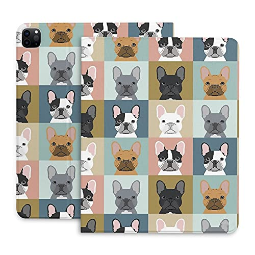 French Bulldog Frenchie Dog iPad Case 2020 iPad Pro 4th Generation Case, iPad Smart Cover Leather iPad Case, Protective Shell Cover for ipad pro 2020-12.9'
