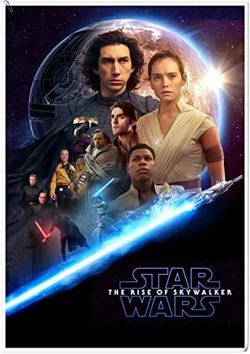Hollywood Sci-Fi Comics Movie Star The Rise of Skywalker Rey Jedi Lightsaber Darth Wars Lienzo Pintura Arte de la pared Póster Sala de estar Dormitorio de niño Decoración del hogar