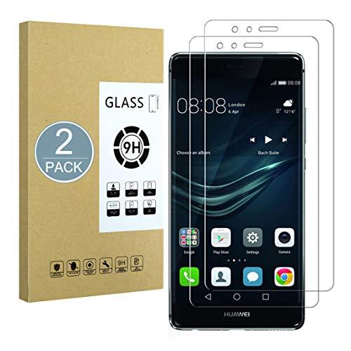 E-Hamii [2-Pack Pellicola Salvaschermo Compatibile con Huawei P9 Plus, Protezione in Vetro Temperato 9H,Serie 2.5D Double Defense Premium,[Anti-Impronta Digitale e Anti-Graffio][Senza Bolle]
