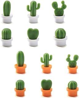 Lot de 12 Pièces Cactus Aimant 3D Frigo, Autocollant Réfrigérateur Aimant Decoratifs pour la Maison, Armoires de Bureau, T...