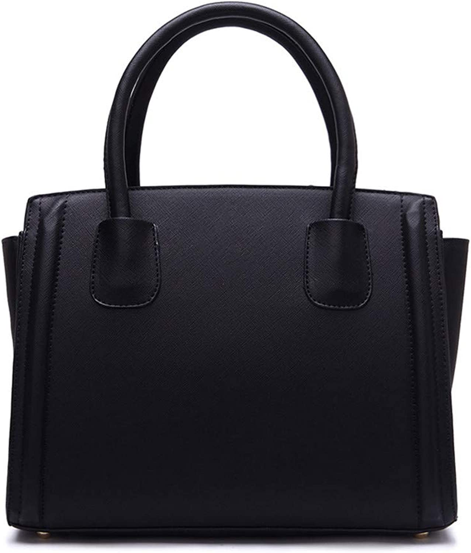 Sturdy Fashian Multicolor Selection Leather Handbags Ladies Shoulder Handbag Leather Killer Handbag Messenger Handbag Stereo Version Type Large Capacity (color   Black)