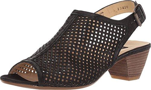 Paul Green Lois Sandal Black Leather at 2.5 (US Women's 5) M