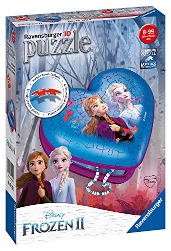 Ravensburger 12120 Disney Frozen 2, 54 Piece Heart Shaped 3D Jigsaw Puzzle for Kids Age 8 Years and up,