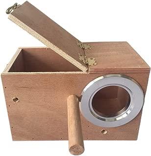 PIVBY Bird Nest Box Lovebird House Pet Wood Parakeet Budgie Cockatiel Breeding Nesting for Cages