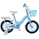 Bicicletas niños, bicicletas de niños con la rueda de entrenamiento de 12/14 / 16Inch del muchacho y de ciclismo, adecuado for niños Aged2-8Pink azul (color: rosa, Tamaño: 16 pulgadas) Jialele