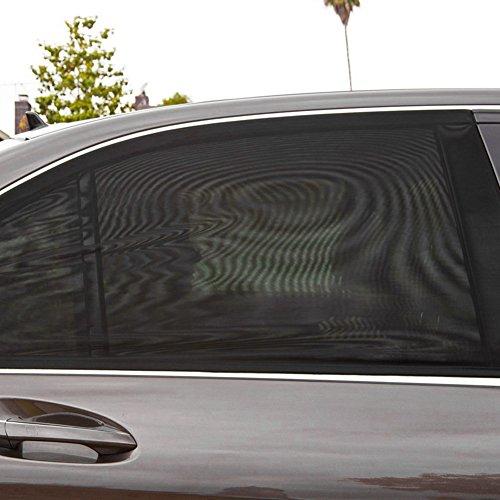 2 Piezas Ventana Lateral del Coche Universal Sombrilla Malla Transpirable Protección Solar Rayos UV Protección Vehículos del Cortina de la Ventana Trasera Red de Visera Plegable