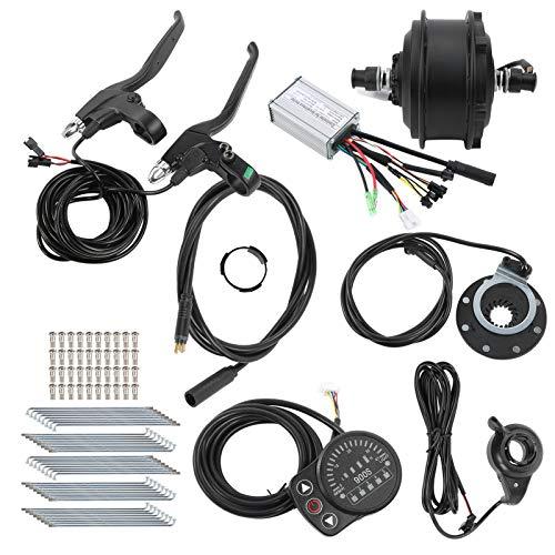 Alomejor Kit de conversión de Bicicleta eléctrica de 36V 250W 20in con Controlador Medidor de Bicicleta KT-900S para Velocidad de Rueda de 20 Pulgadas 25 km/h(Motor de accionamiento Delantero)