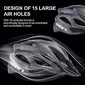 Bicycle Helmet Bike for Adult Women Men Youth, Mountain Bike Helmet Road Street Helmet,Cycling Helmet with Detachable Visor, MTB Helmets Adjustable Size Helmets