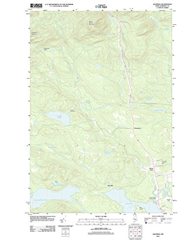 Maine Maps - 2011 Jackman, ME - USGS Historical Topographic Wall Art - 44in x 59in