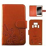 WHITENUTS REGZA PHONE T-01D ケース 手帳型 エンボスデザイン オレンジ/小麦 TC-D0073912/M