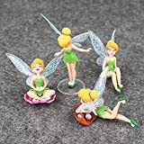 LINANNAN Anime Figure Toys, 4pcs / Lot Princess Figure Toys Tinkerbell Fairy Elf Set para niños Regalos de cumpleaños