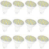 Jenyolon GU4 MR11 LED Lampen Warmweiss 2.5W, 12V, 3000K, 300Lm, Ersatz für 20-25W Halogenlampen...